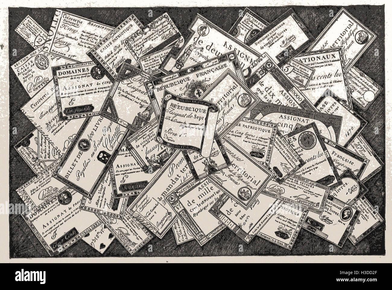 ASSIGNATEN DER REVOLUTION Stockbild