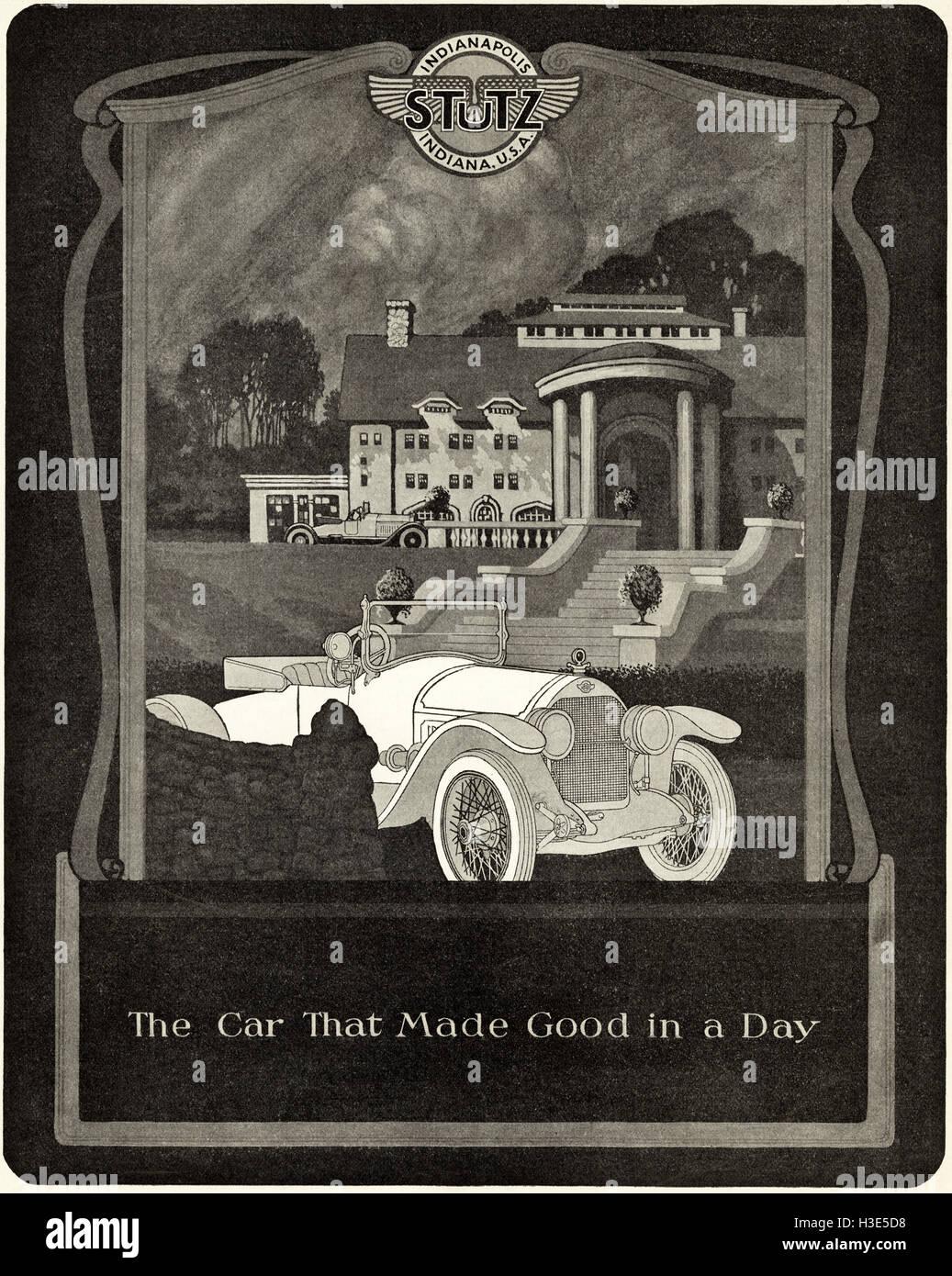 1920 anzeige aus original alten vintage amerikanische zeitschrift 1920 s werbung werbung stutz. Black Bedroom Furniture Sets. Home Design Ideas