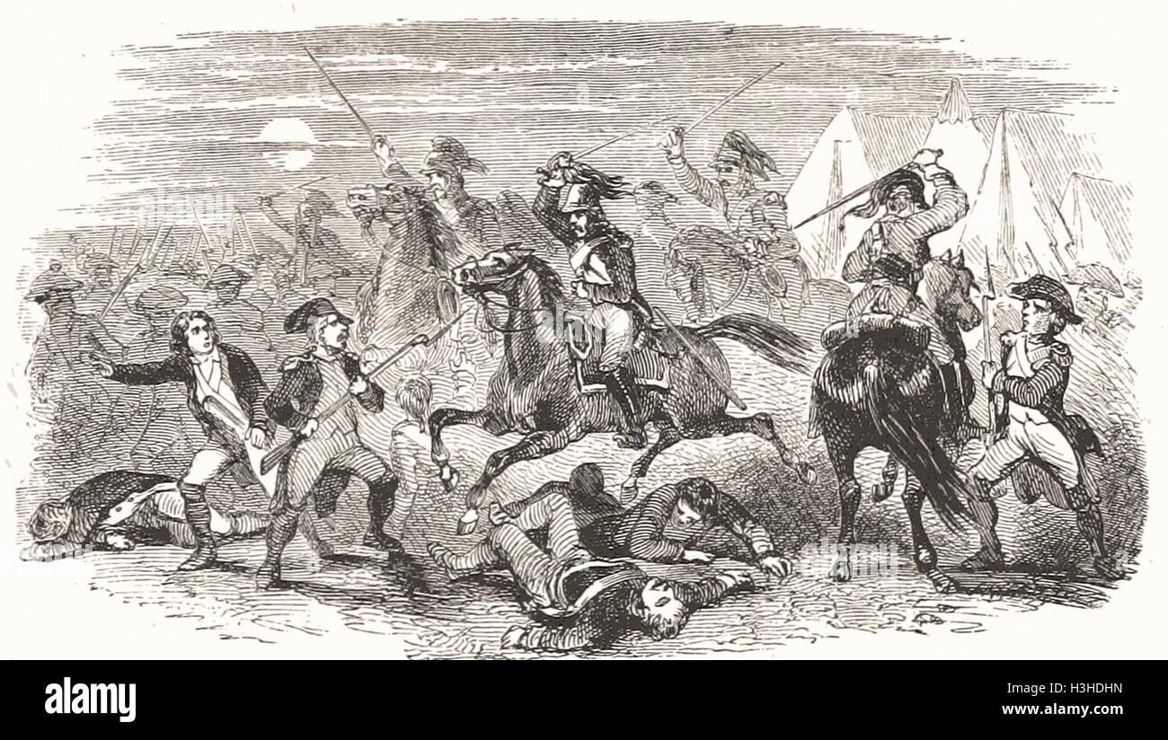 NACHT DER SEPTEMBER 10, 1796 Stockbild