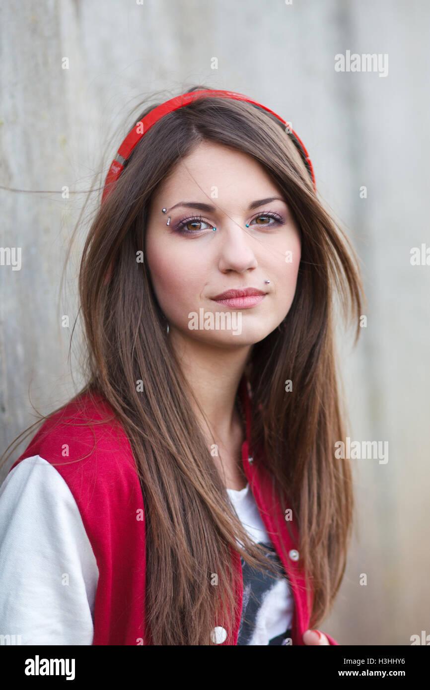 Lockiges Haar Russisch Teen