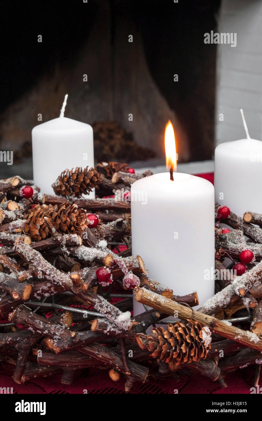 candle light advent stockfotos candle light advent. Black Bedroom Furniture Sets. Home Design Ideas