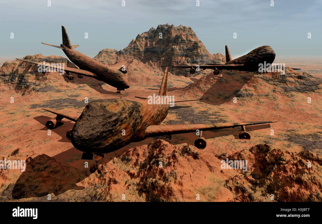 Steinzeit-Jets. Stockbild