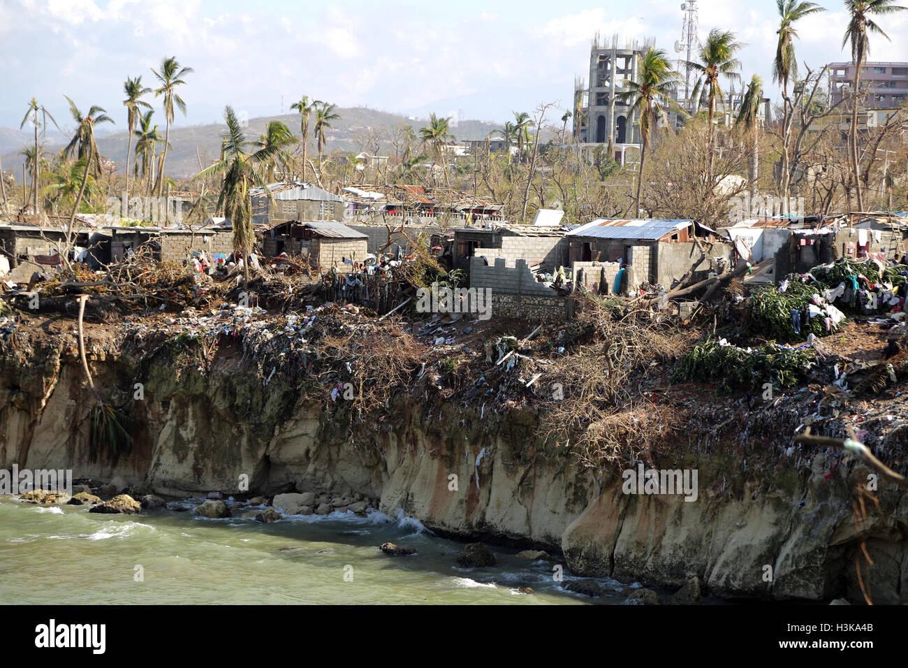 Grand Anse, Grand Anse-Abteilung. 8. Oktober 2016. Bild zur Verfügung gestellt von Fonds der Vereinten Nationen Stockbild