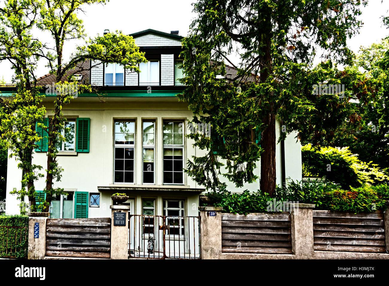wohnhaus von thomas mann in kilchberg z rich alte landstra e 39 residenz des thomas mann in. Black Bedroom Furniture Sets. Home Design Ideas