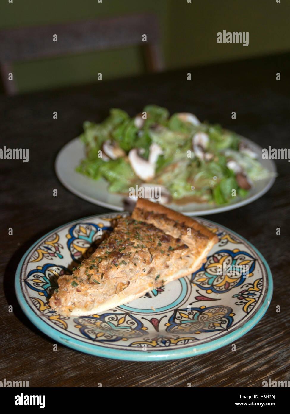 Zwiebelkuchen Stockfoto