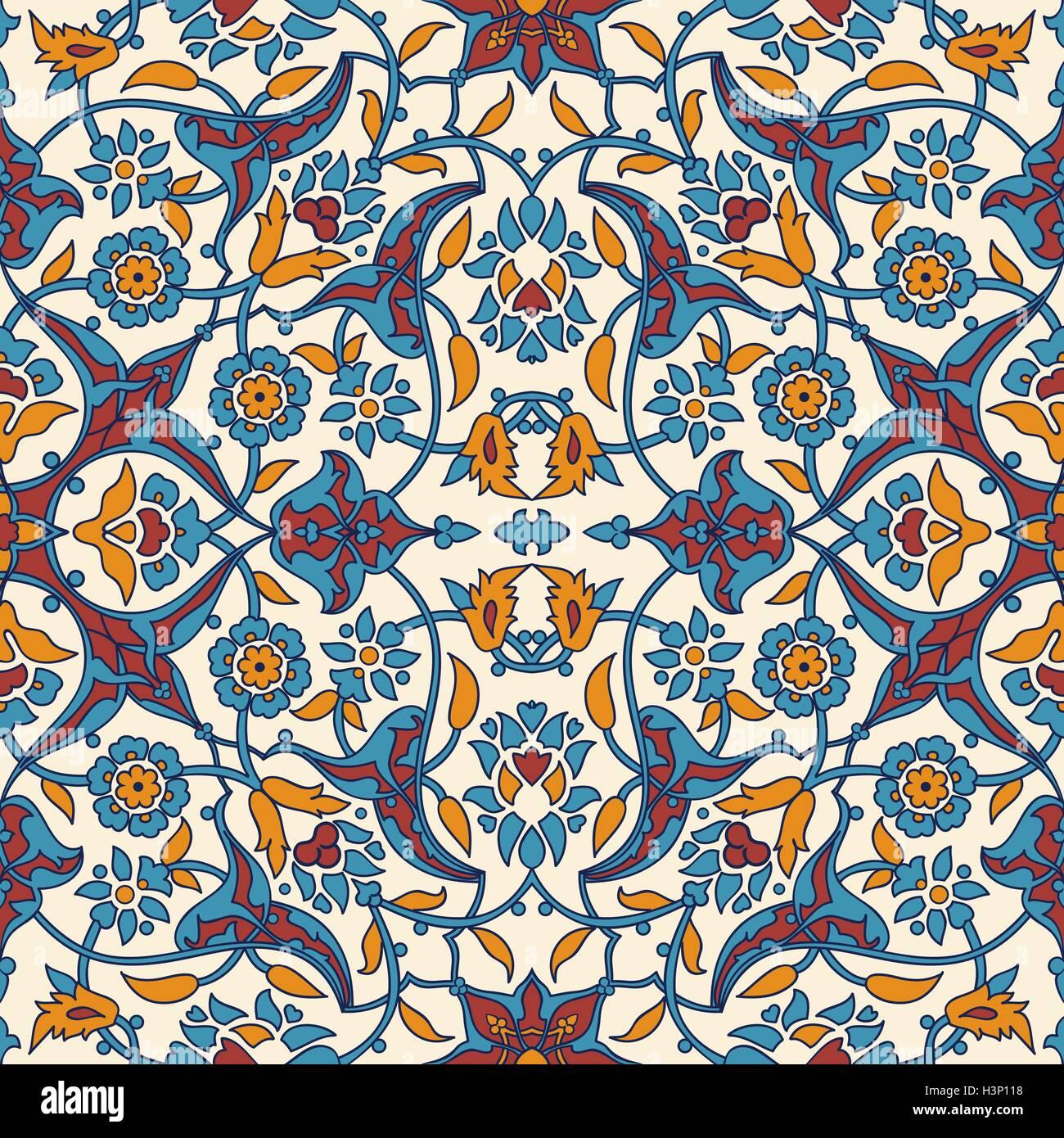 Stilisierte blumen orientalische tapeten retro nahtlose abstrakten hintergrund vektor - Tapeten dekoration ...