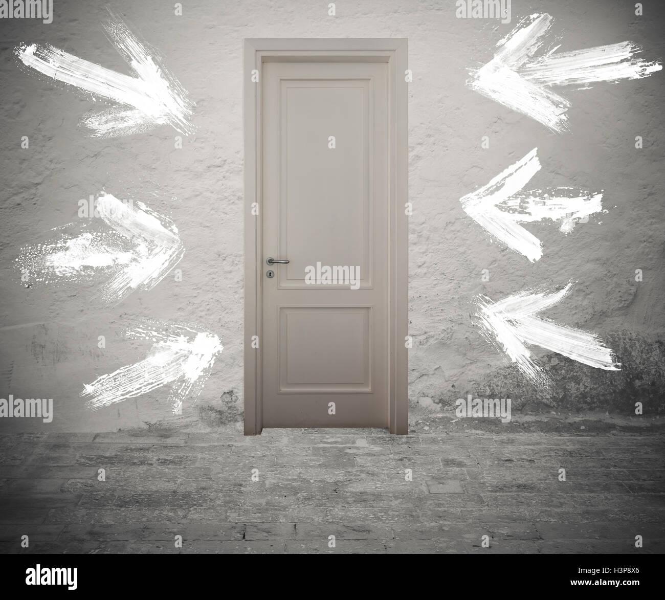 Die rechte Tür Stockbild