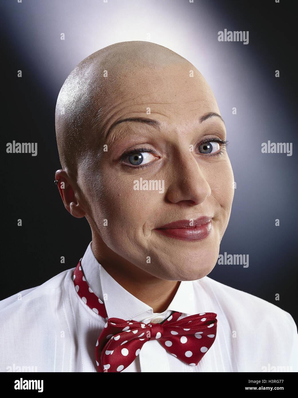 Frau Glatze Fliege Mimik Porträt Mb 251 A2 Stockfoto Bild