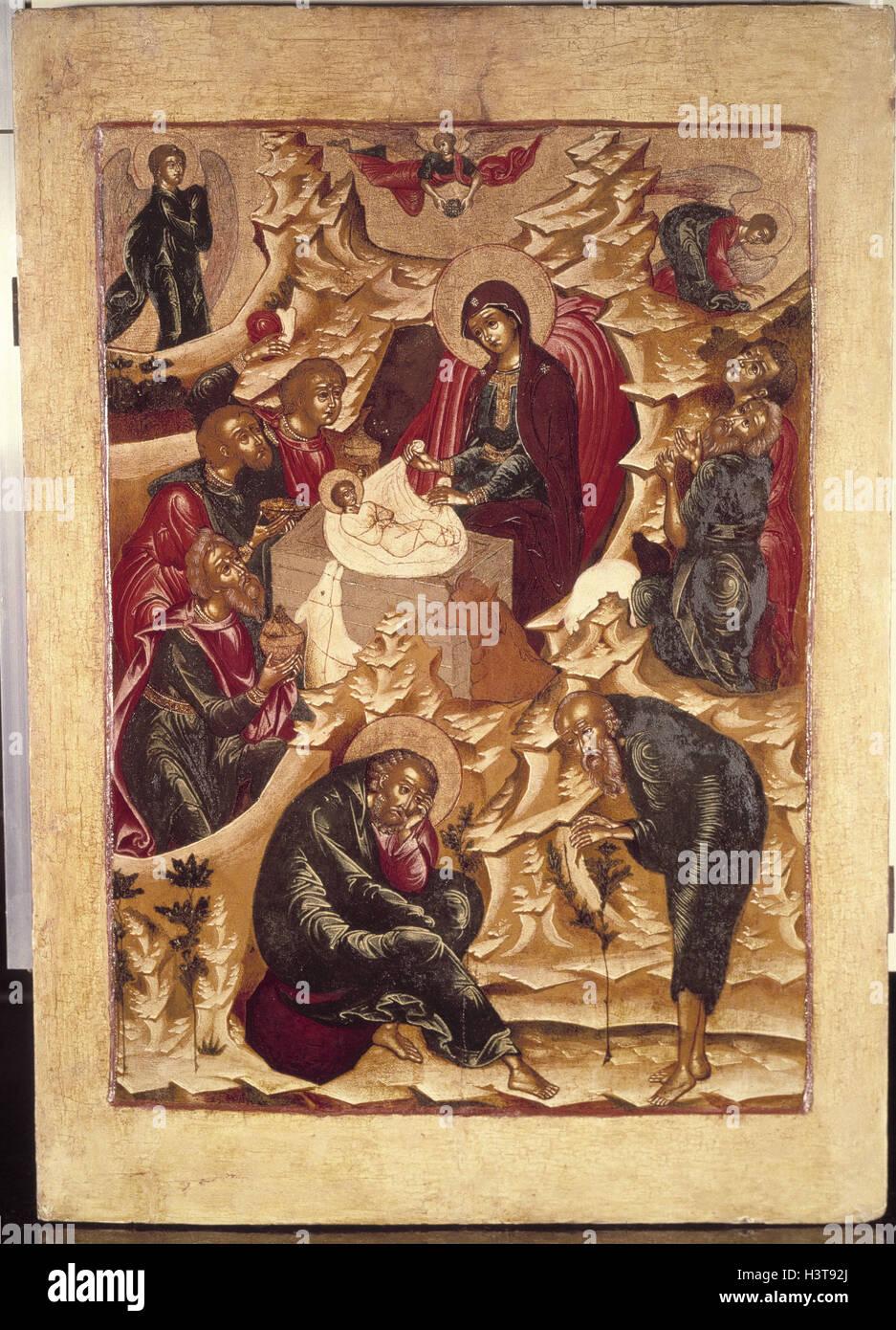 Weihnachten Im Christentum.Heiliges Bild Heilige Familie Krippe Kinderkrippe Tradition