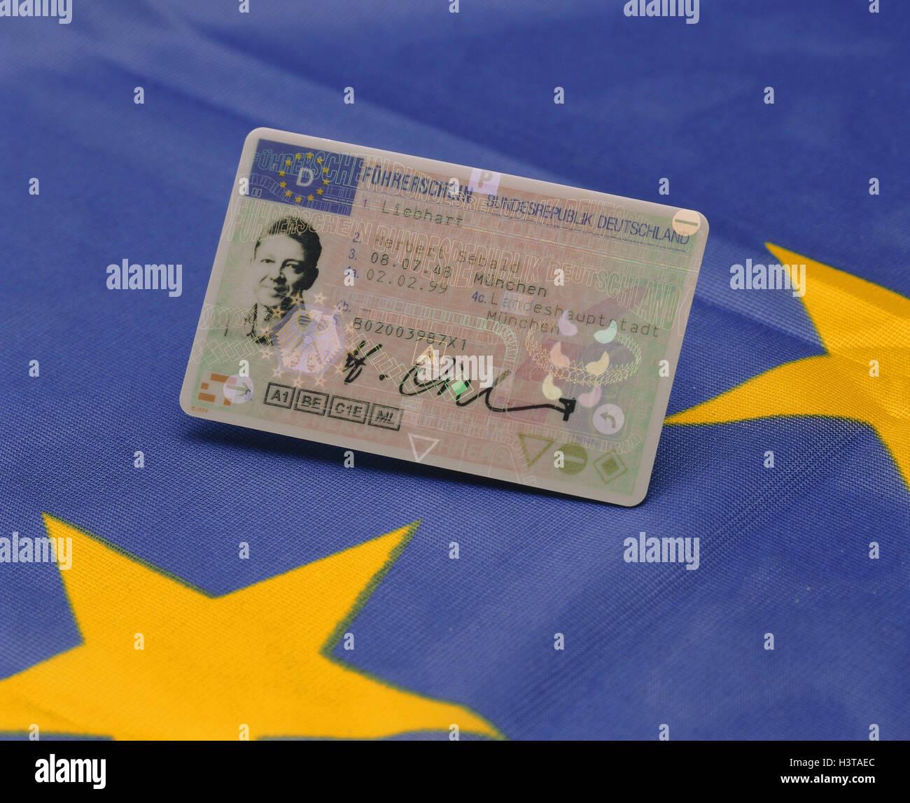 EU Führerschein, Europa, Führerschein, Code-Karte, Führerschein ...