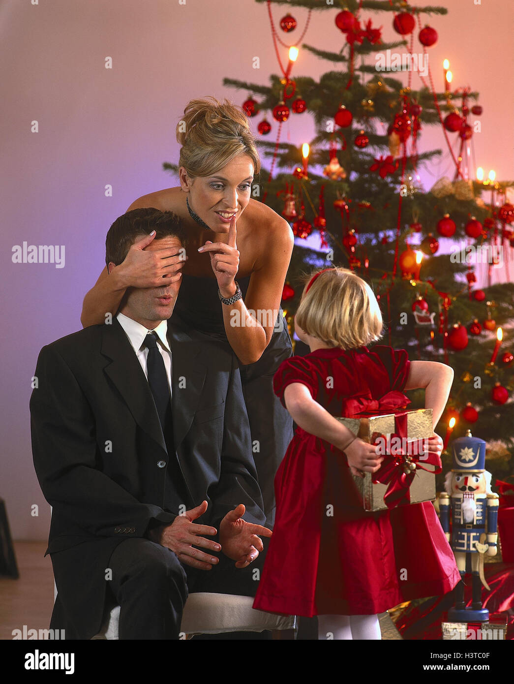 Weihnachten, Familie, Kind, Vater, Überraschungen, vorliegenden ...
