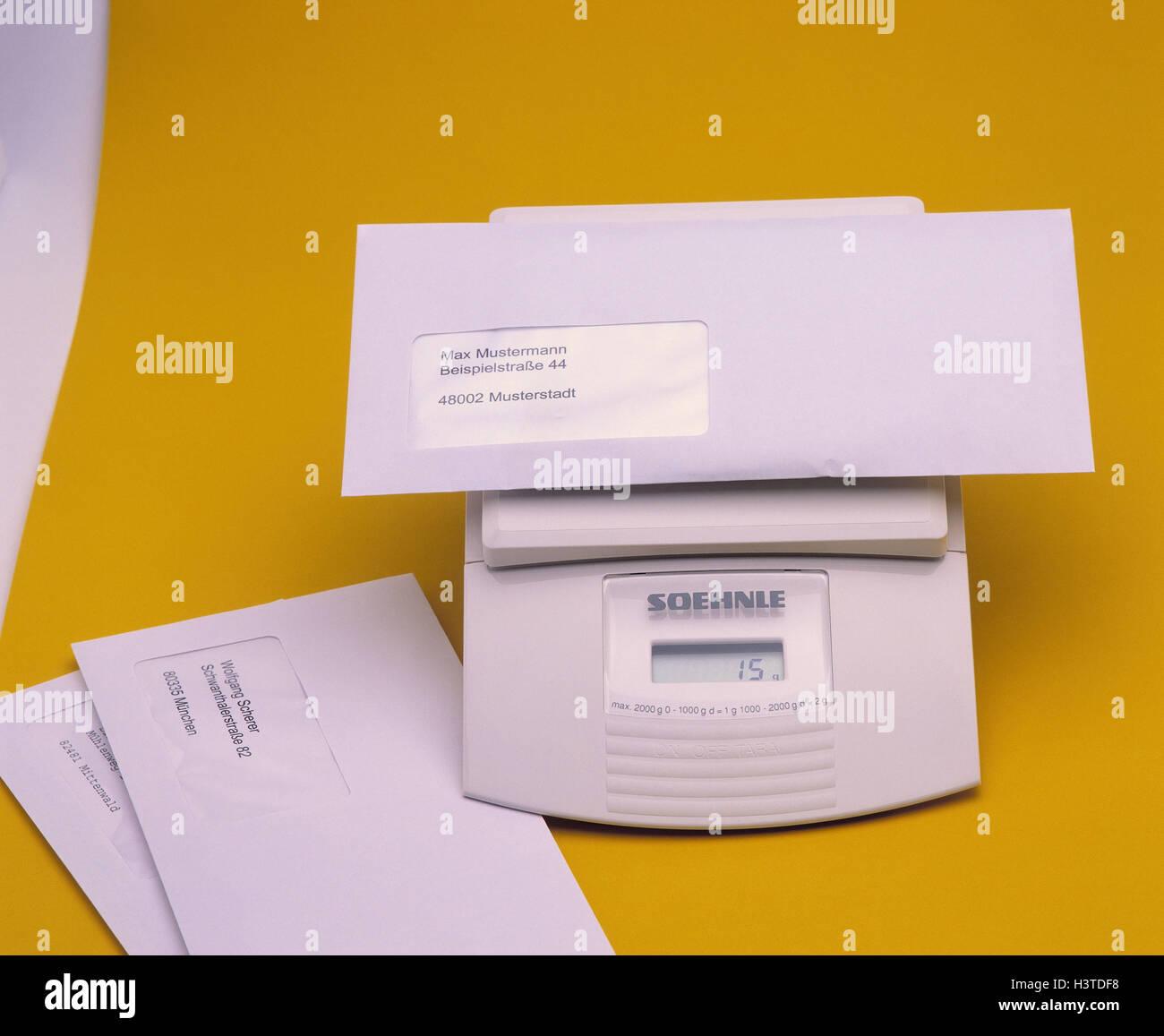 Brief Zu Skalieren Digital Briefe Waagen Wiegen Gewicht