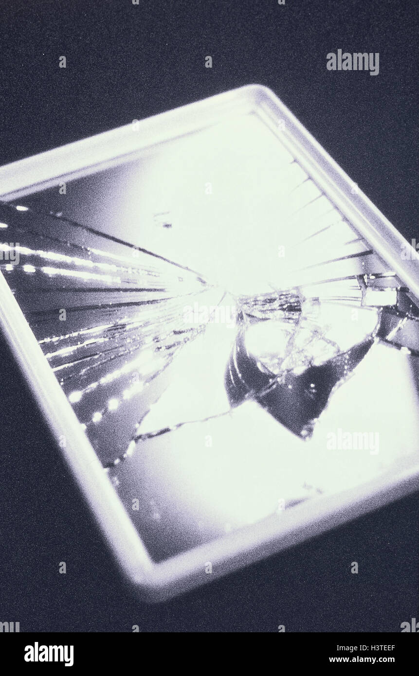 Aberglaube Unglück reflektor gebrochen icon unglück s w sieben jahre pech