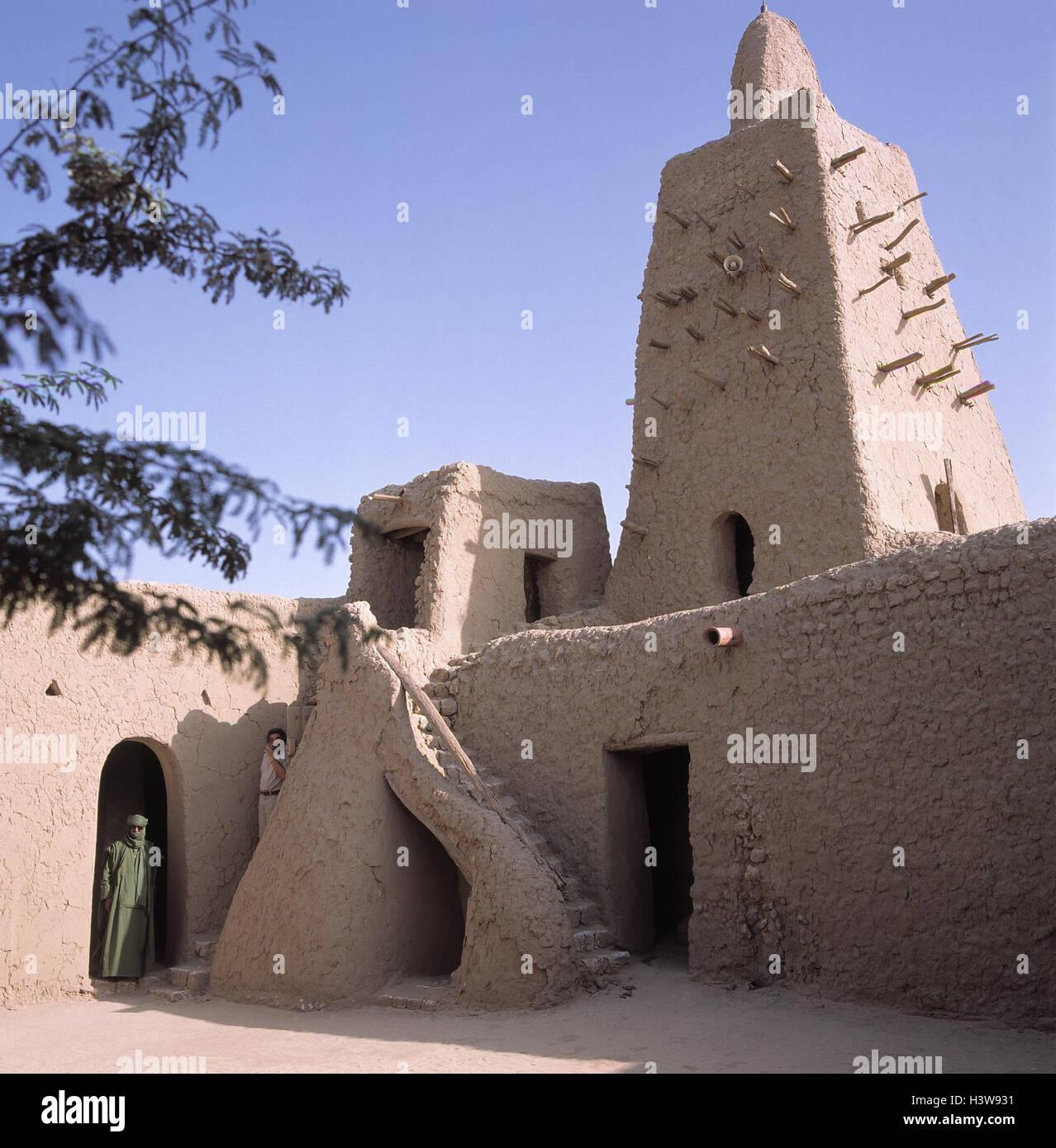 Mali, Timbuktu, große Moschee, Moschee Djinger Rep, detail, Afrika, Oasenstadt, Struktur, Ort von Interesse, Stockbild