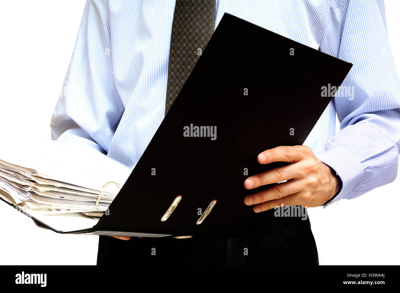 Mann mit Archivierung Ordner Stockbild
