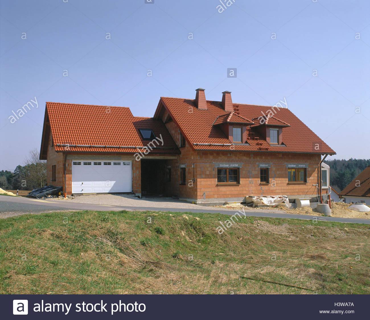 Wohnhaus Bauen einfamilienhaus garage shell haus gebäude haus bau bauen
