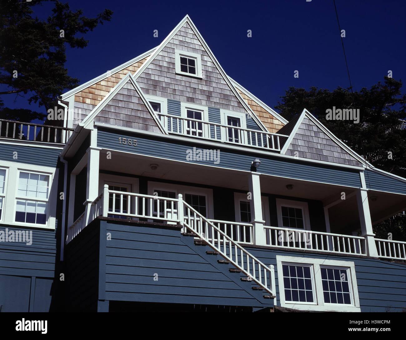 USA, Oregon, Pazifikküste, Strandhaus, In Der Nähe Von Pazifik Küste,