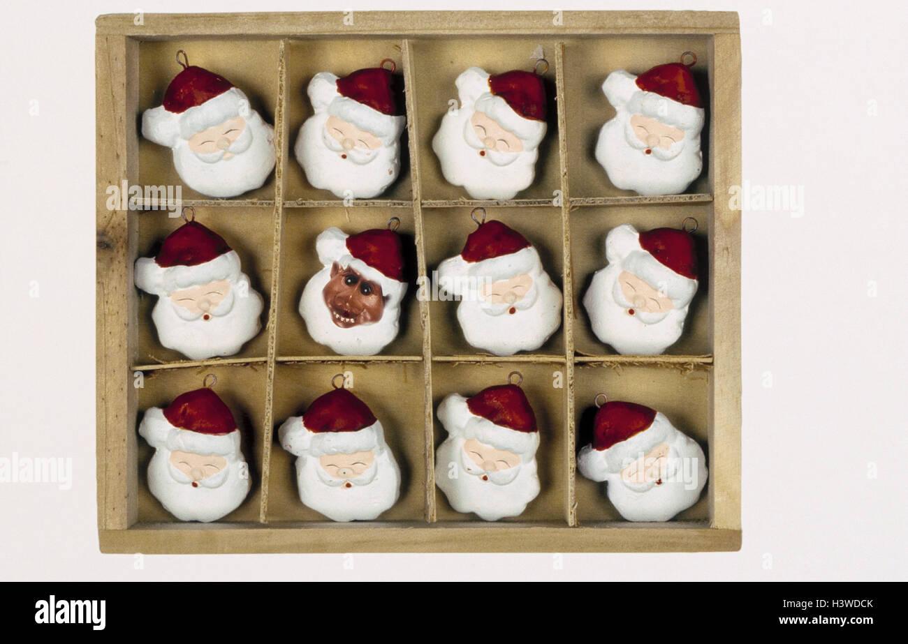 Holzkiste Weihnachtsdekoration Weihnachtsmanner Santas Little