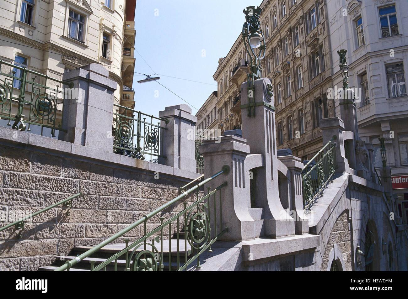 Treppenhaus architektur detail  Österreich, Wien, Filgrader enges Treppenhaus, detail, Europa ...