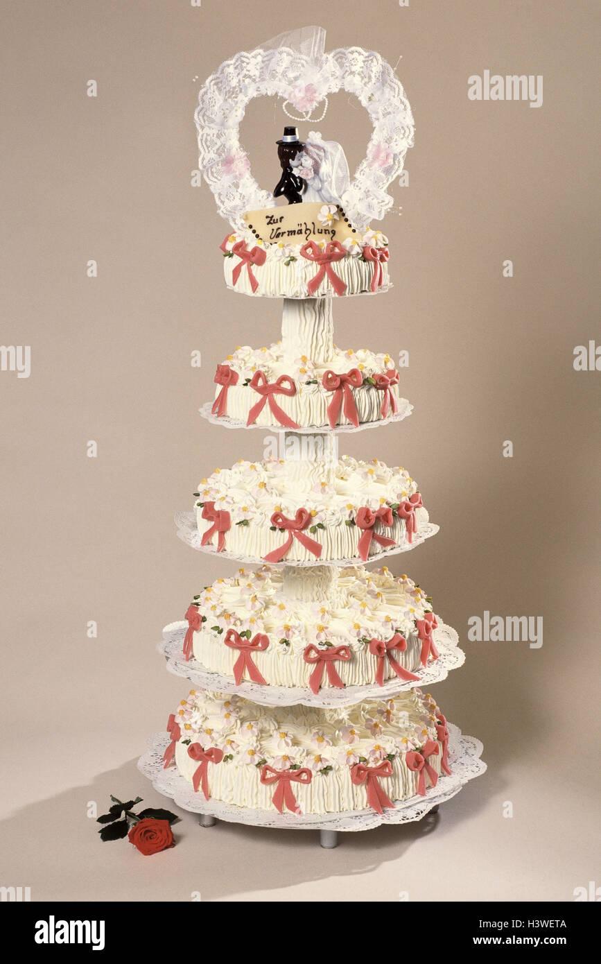 Hochzeitstorte 5 Stockwerke Dekoration Figuren Braut Und