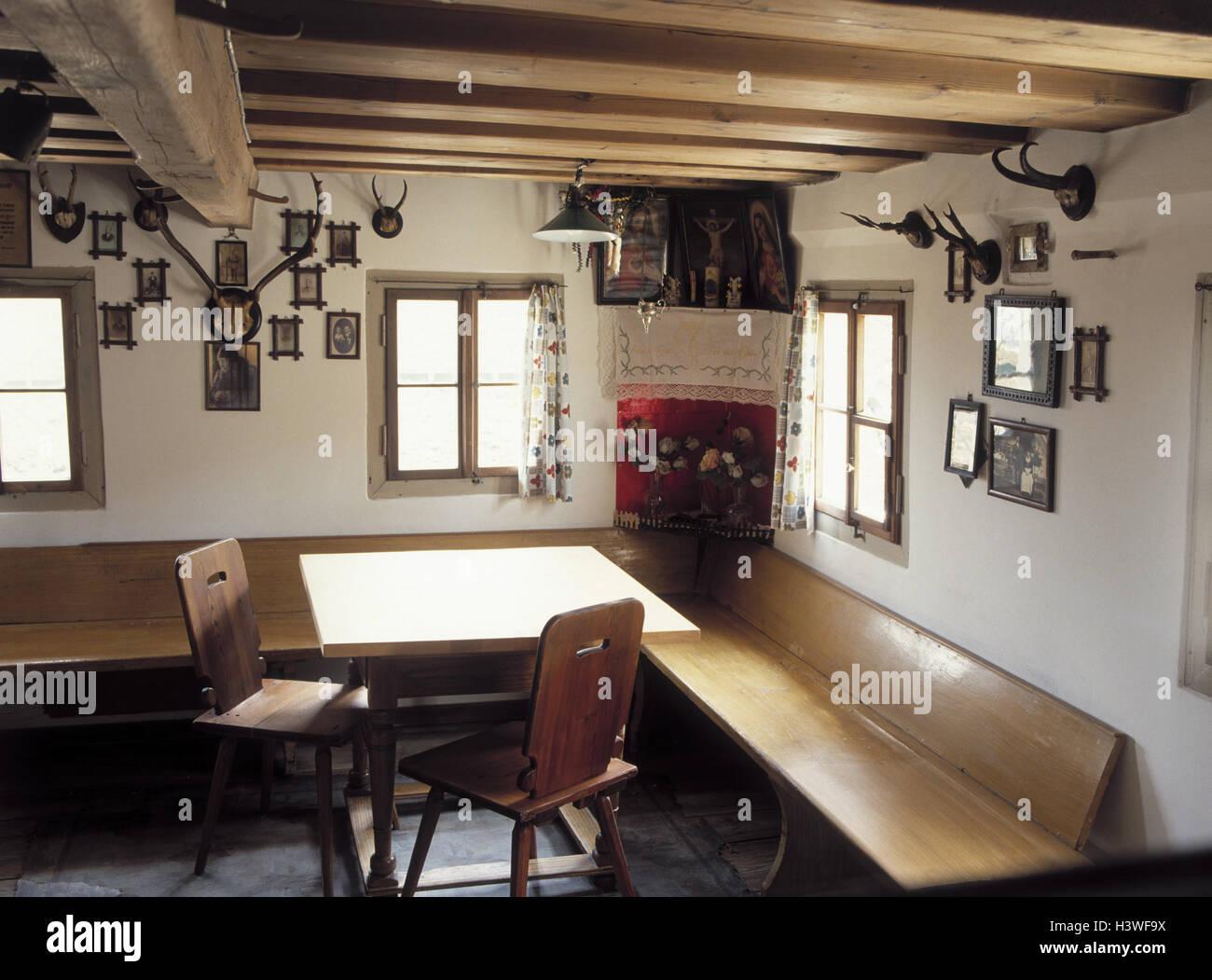deutschland oberbayern bauernstube alt innen bayern haus wohnhaus bauernhof zimmer. Black Bedroom Furniture Sets. Home Design Ideas