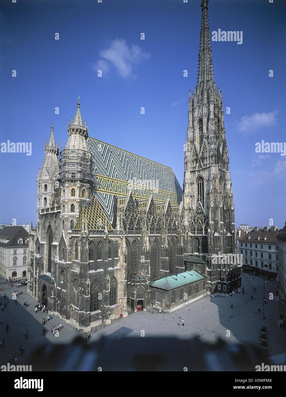 Österreich, Wien, Stephansdom, Europa, Bundeshauptstadt, Hauptstadt, Kathedrale, Kirche, Struktur, Architektur, Stockbild