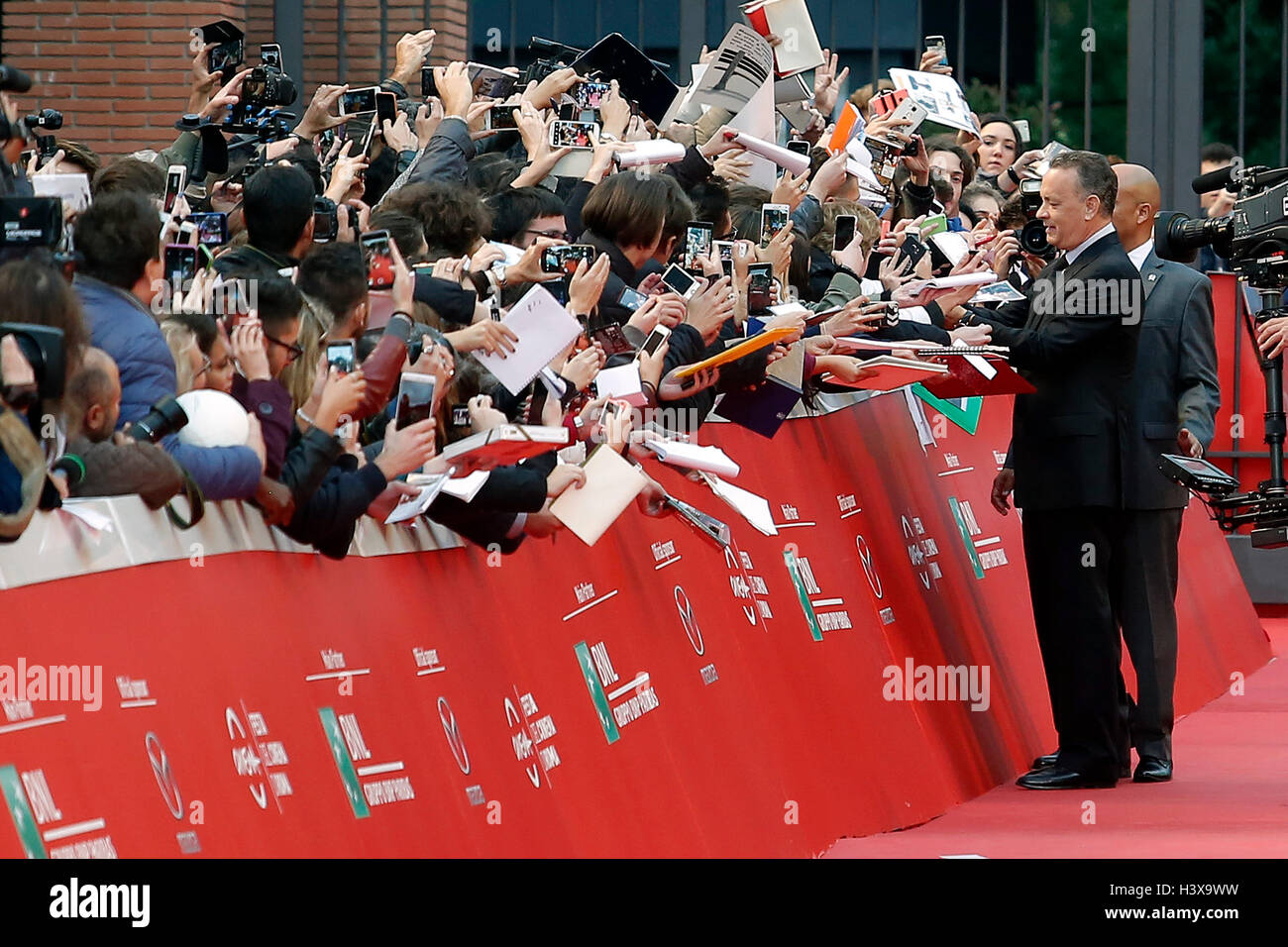 Tom Hanks Rom 13. Oktober 2016. Rome Film Fest XI Ausgabe. Foto Samantha Zucchi Insidefoto Credit: Insidefoto Srl/Alamy Stockbild