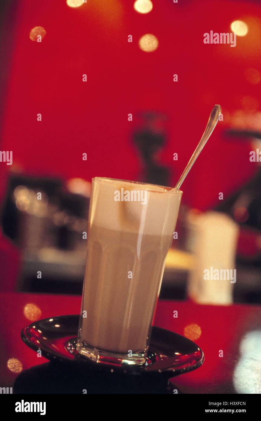 Lokal, Glas, Latte Macchiato, Gastronomie, Café, trinken ...