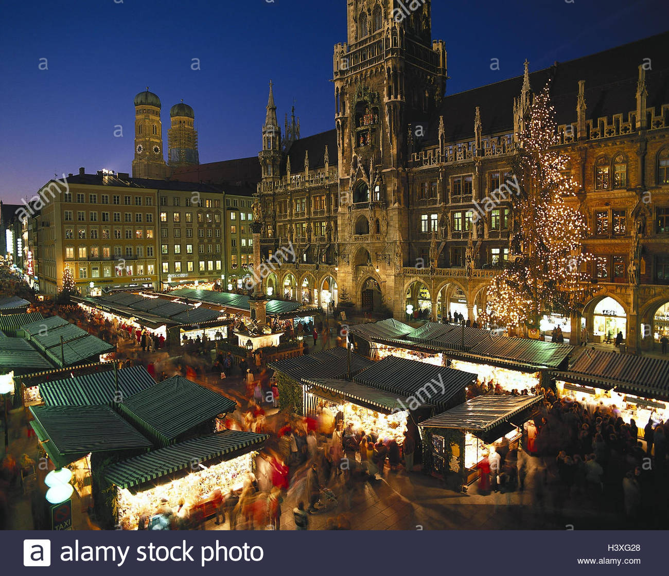 deutschland bayern m nchen marienplatz christmas fair. Black Bedroom Furniture Sets. Home Design Ideas