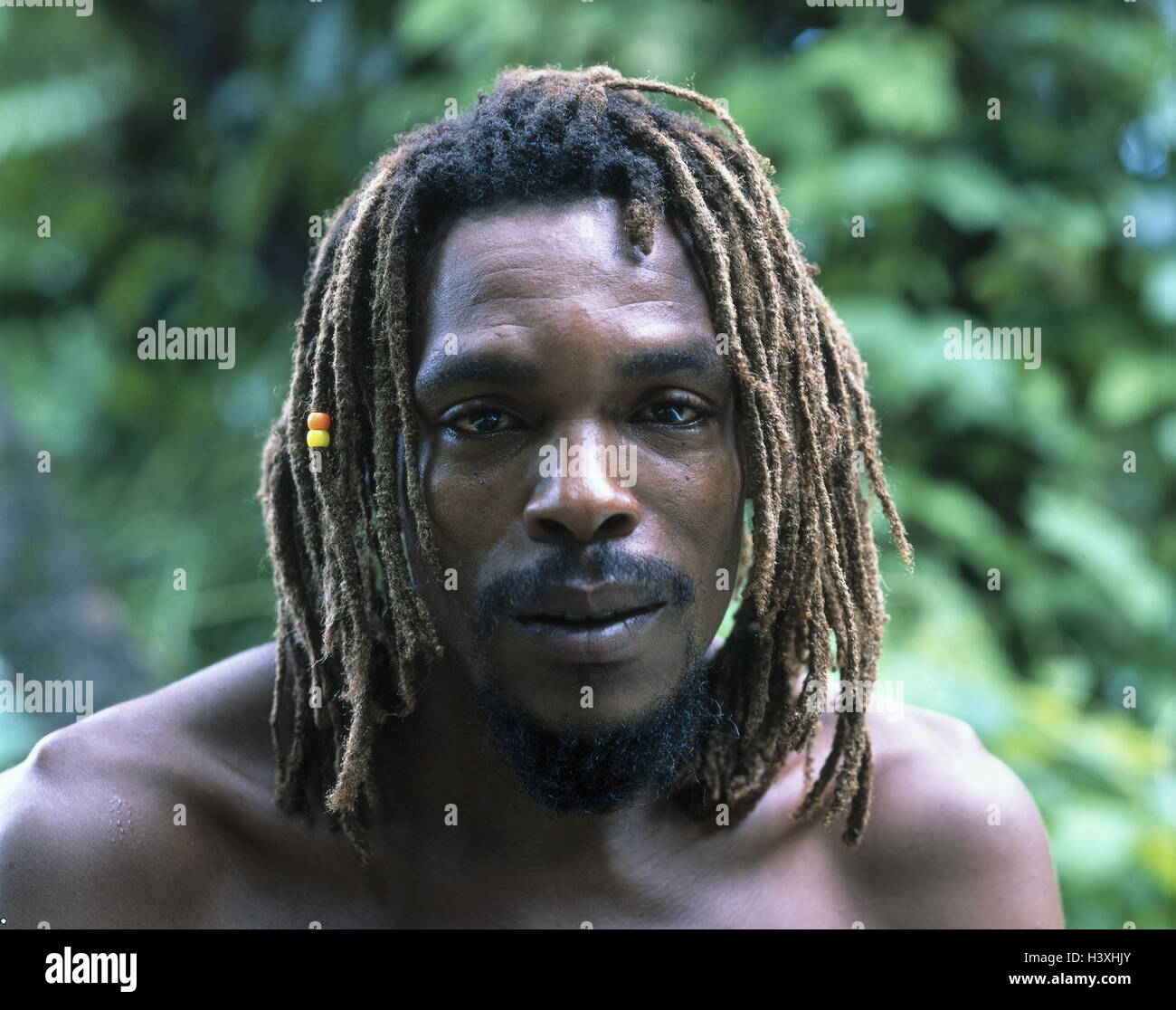 West Indischen Inseln Saint Lucia Lokale Dreadlocks Portrat
