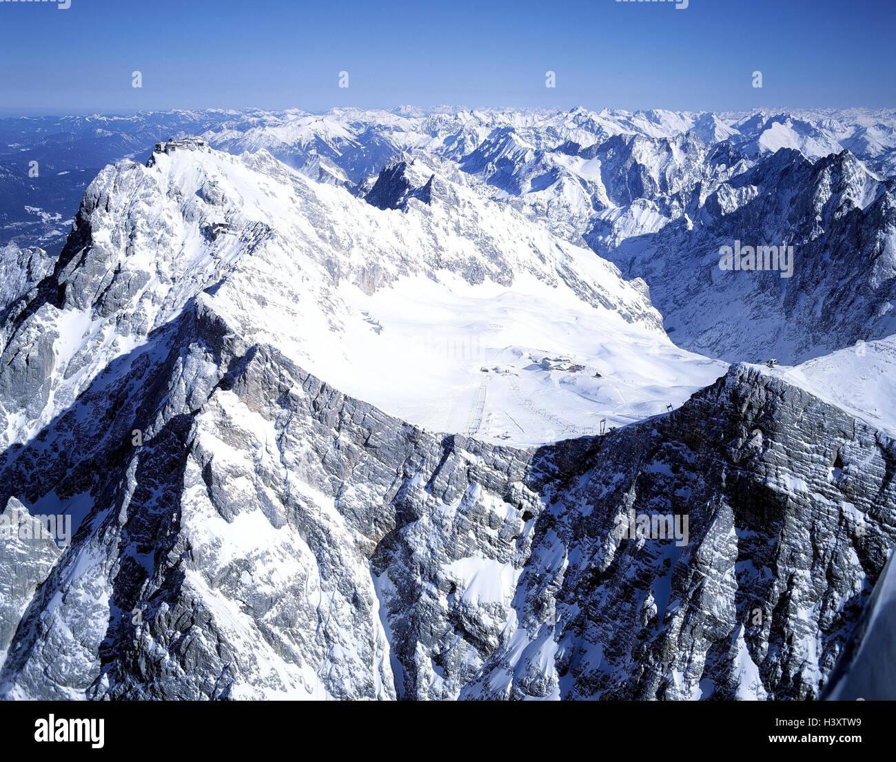 deutschland alpen zugspitzes skifahren bereich zugspitze schlechten deutsch luftbild. Black Bedroom Furniture Sets. Home Design Ideas