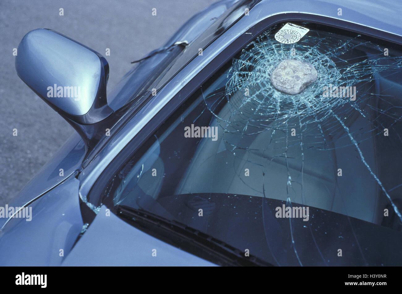 Auto Detail Windschutzscheibe Steinschlag Unfall Verkehr Pkw
