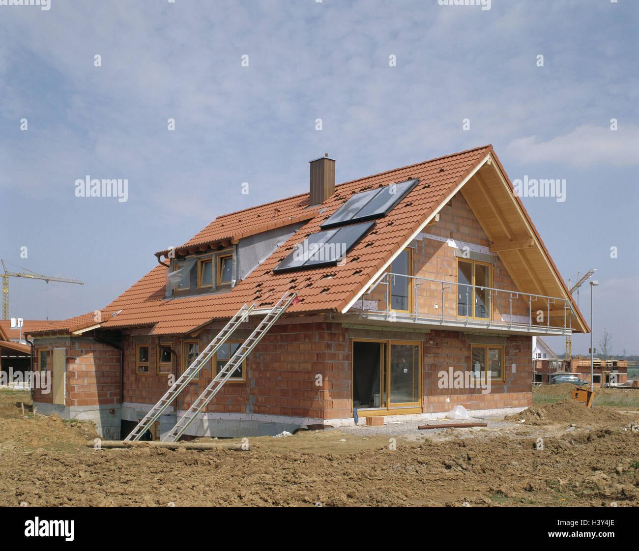 Wohnhaus Bauen einfamilienhaus shell hausdach solaranlage haus häuser bau ein