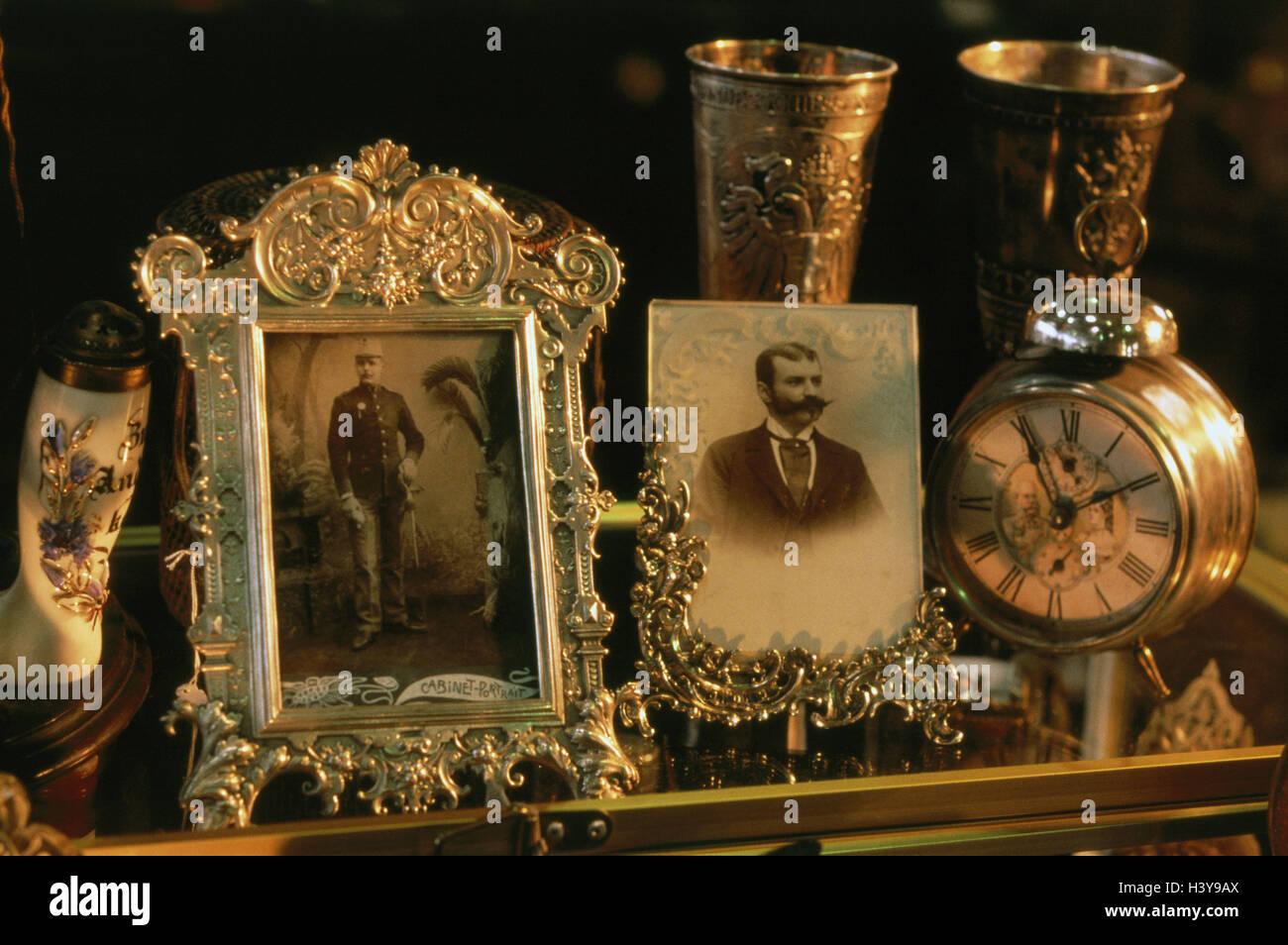 Flohmarkt, Bilder, Bilderrahmen, Uhr, Becher, Silber, 19. Jh ...