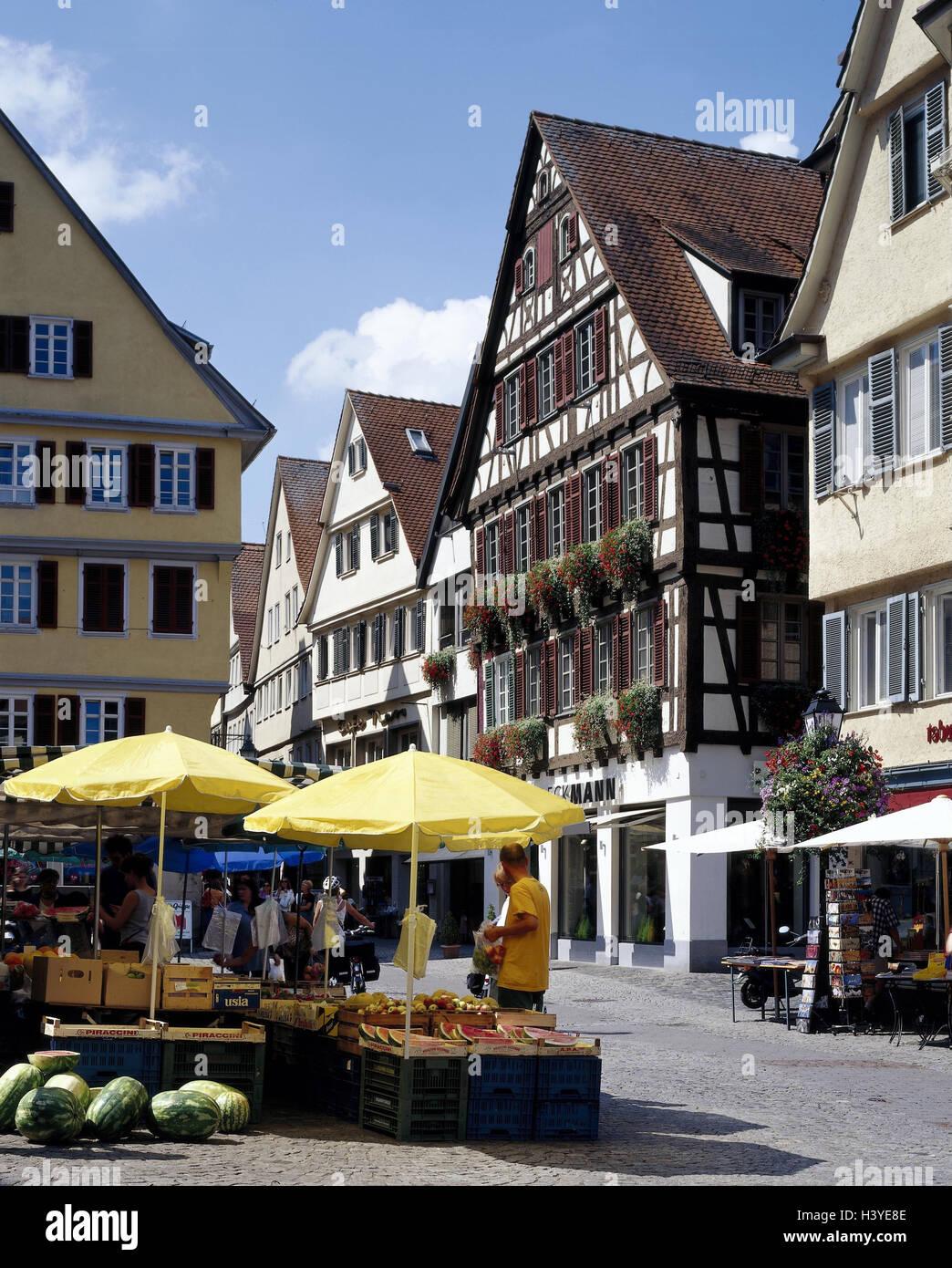 Deutschland, Baden-Württemberg, Tübingen, Altstadt, Obsstand, außen ...