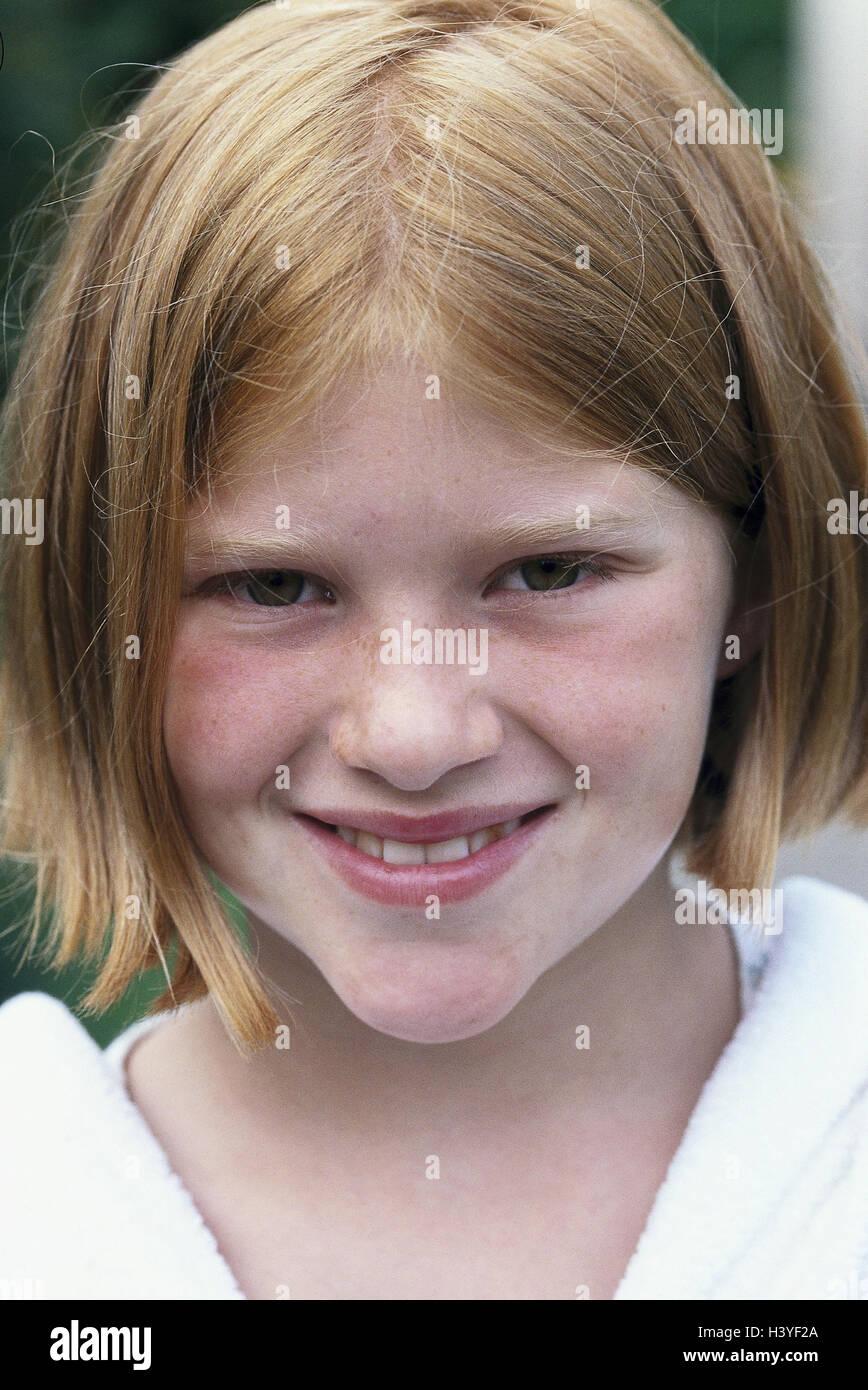 Madchen Lacheln Portrat Modell Veroffentlicht Kind Rothaarige