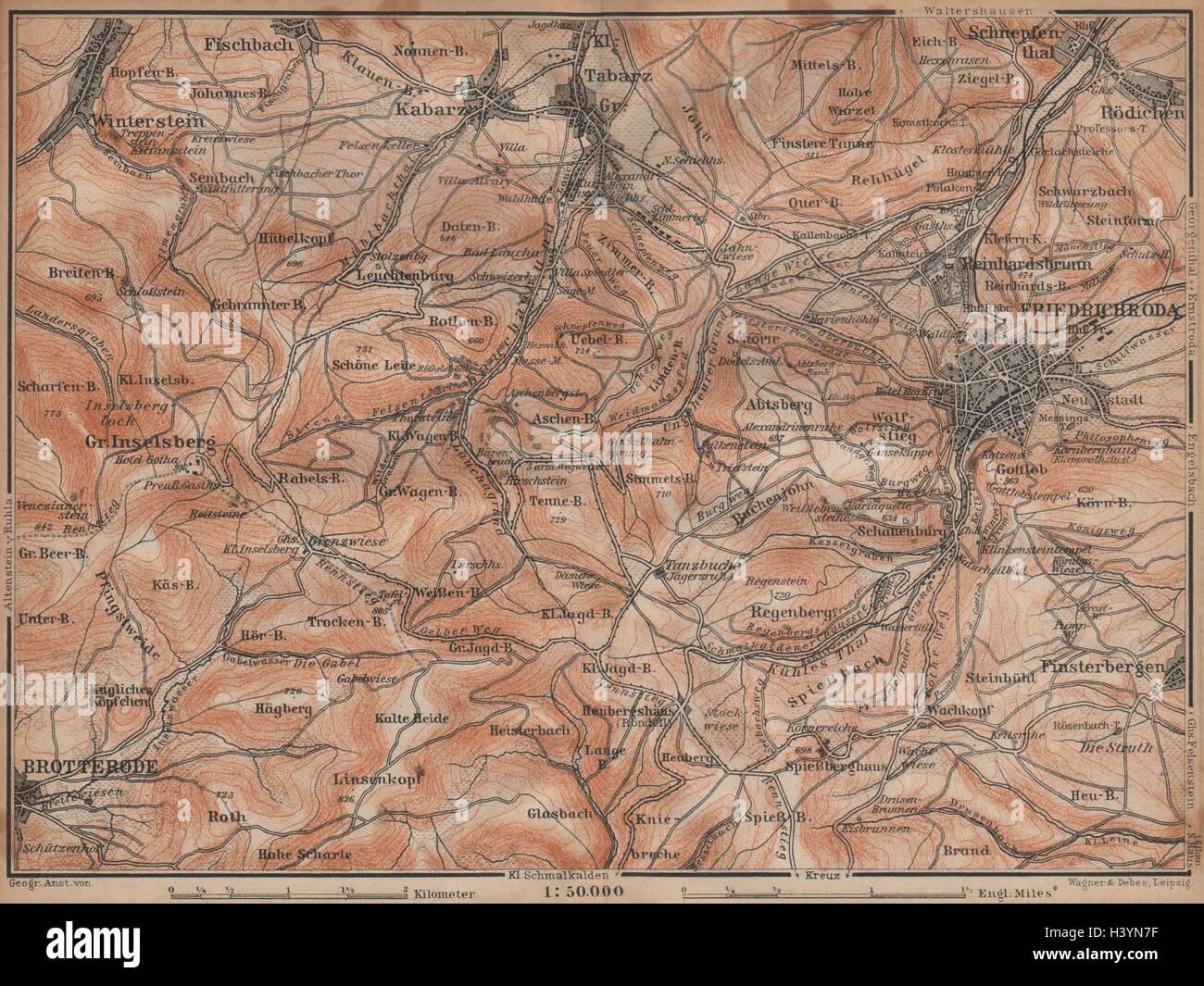 Thüringer Wald Karte.Friedrichroda Thüringer Wald Brotterode Großer Inselsberg