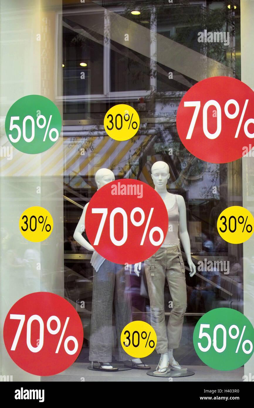 separation shoes 5868a 2a05b Kleidung Geschäft, Schaufenster, Rabatt Zeichen, Geschäft ...