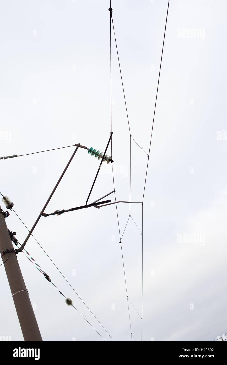 Electrician On Electricity Pole Stockfotos & Electrician On ...