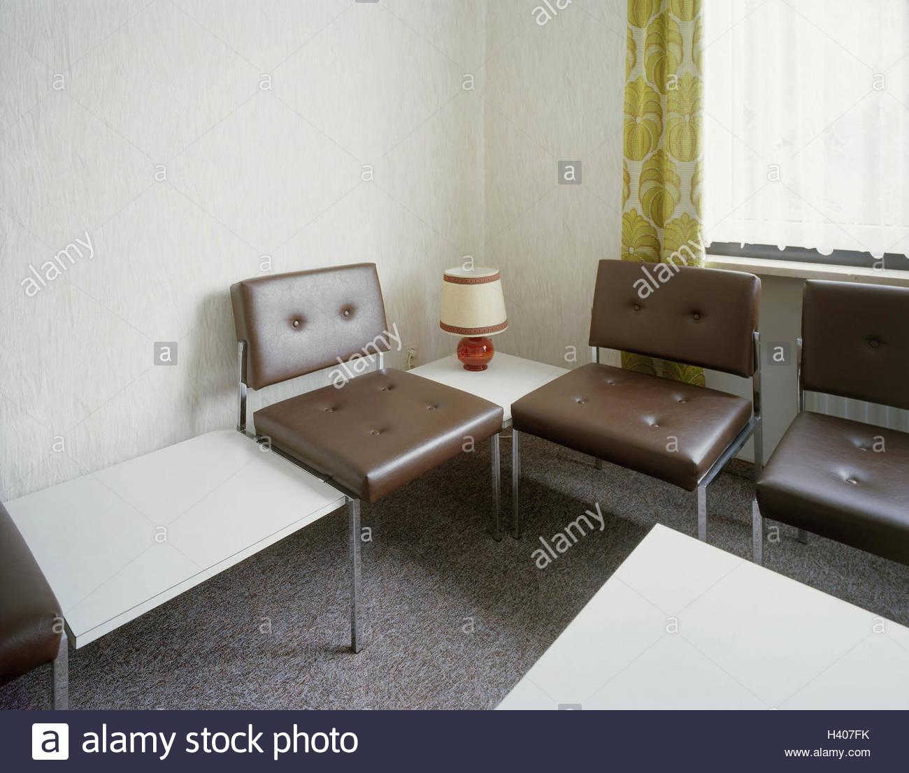 Möbel Leer medizinische praxis wartezimmer detail der 70er jahre praxis für