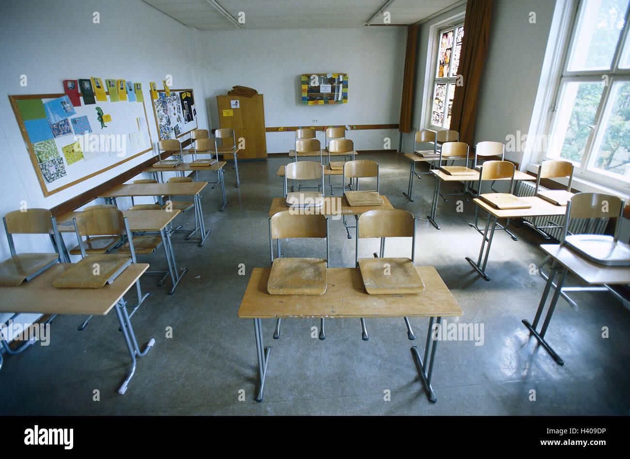 Klassenzimmer, Schule, Unterricht, Schule Ende, leer, verlassen ...