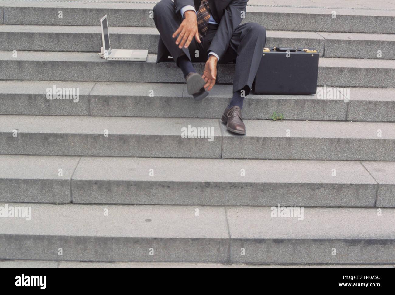 Treppen, Geschäftsmann, Detail, Schuh, Streifen, Beruf, Geschäft, Mann,