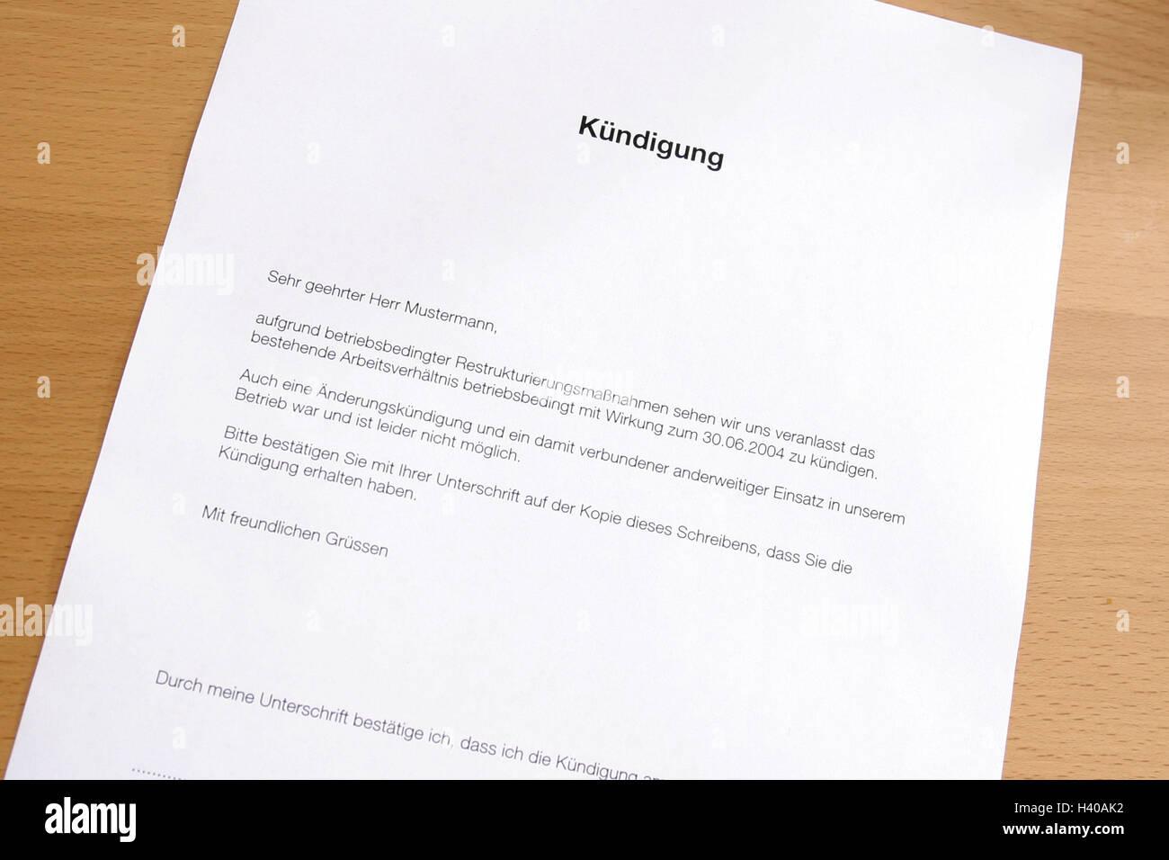 Dokument Brief Rücktritt Schreibtisch Brief Anschreiben