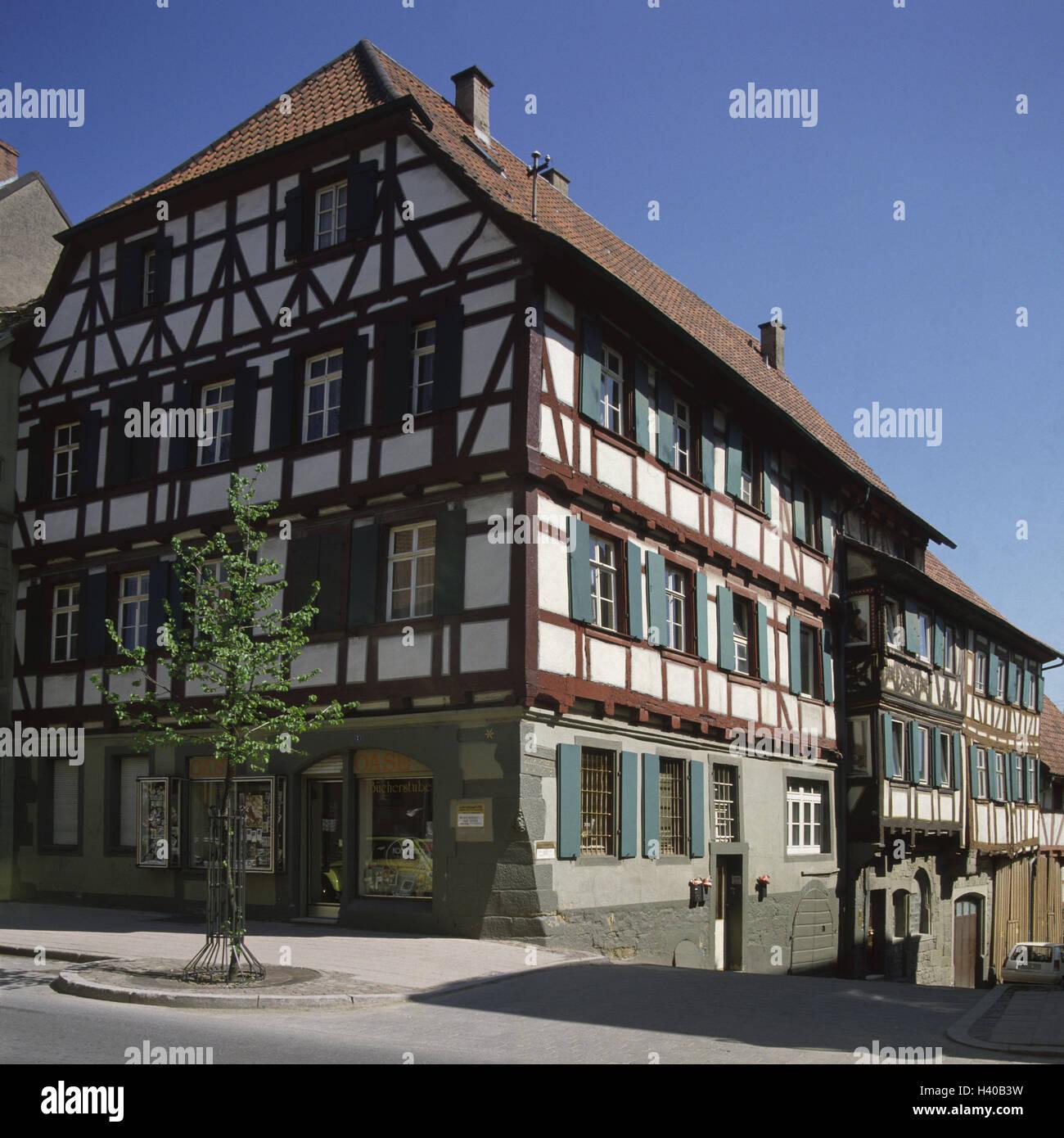 Haus Bild: Deutschland, Baden-Wurttemberg, Eppingen, Old Town