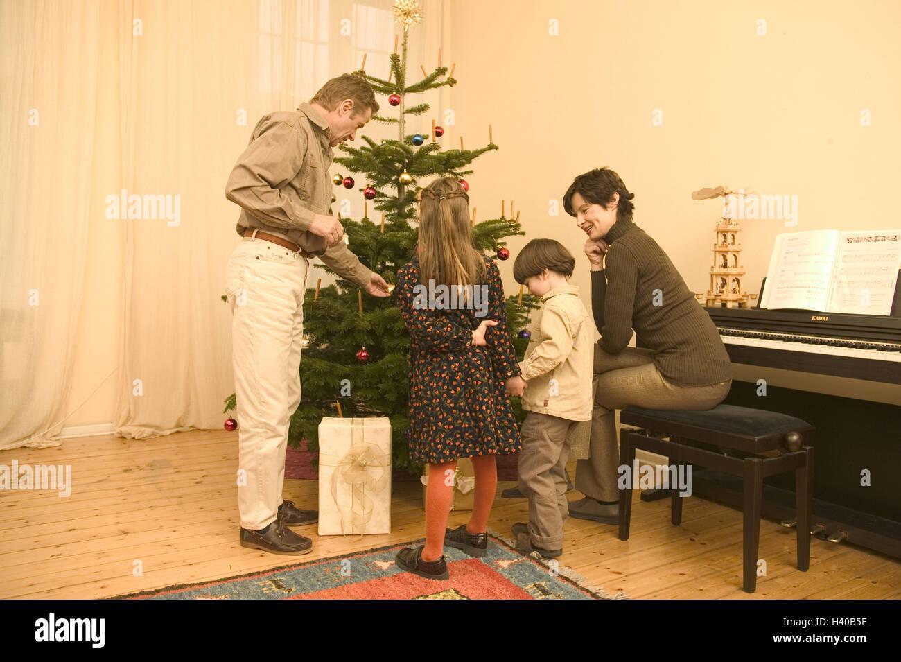Weihnachten, Aufenthaltsräume, Weihnachtsbaum, Familie, Vertrieb ...