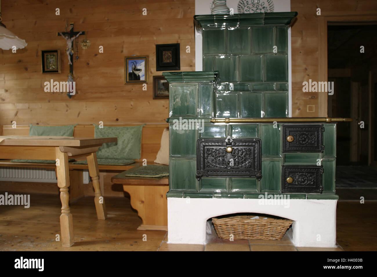 Wohnraum, Kachelofen, Zimmer, Bauernstube, Küche, Wohnraum, Essecke ...