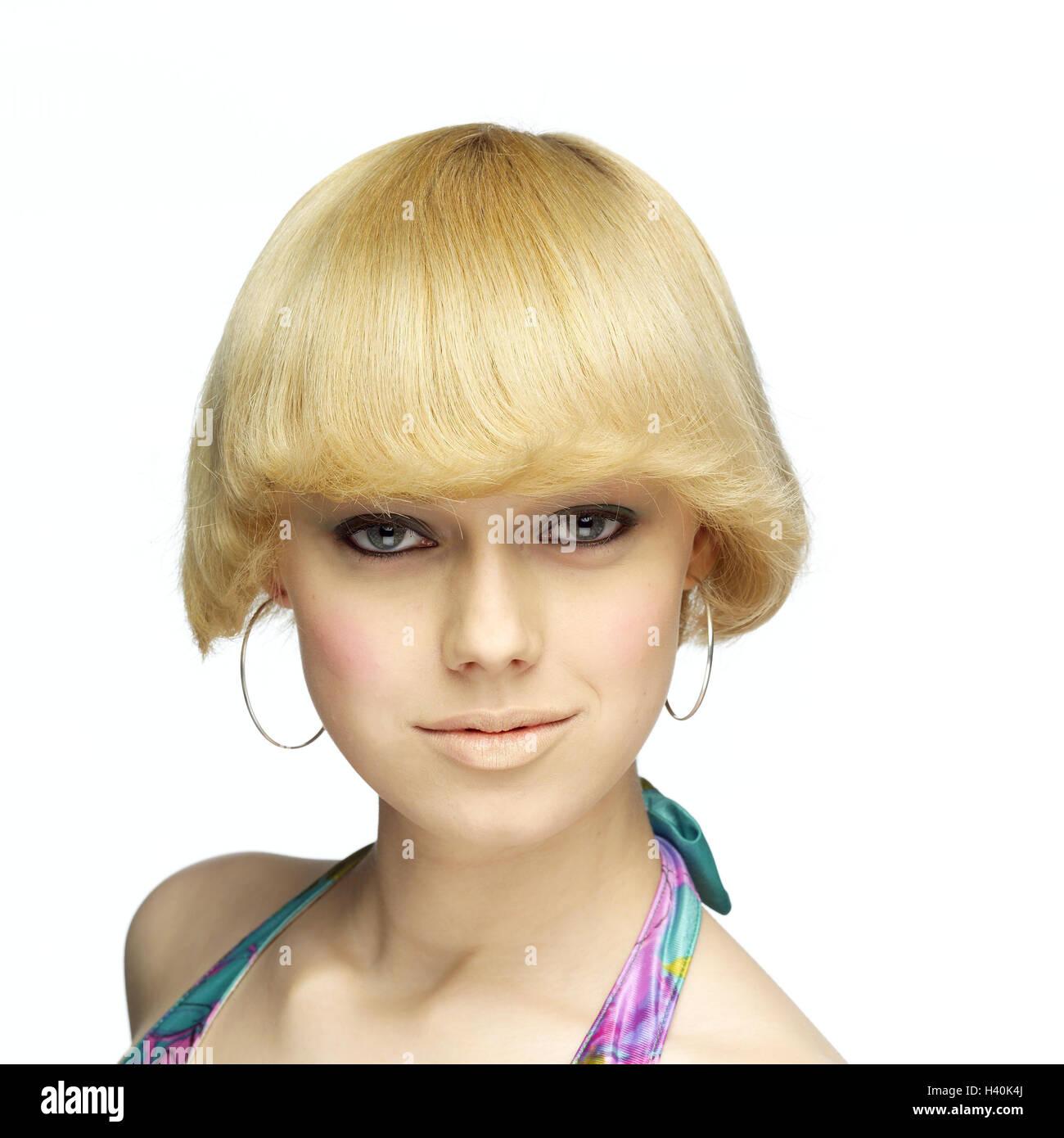 Frau, jung, Blond, ernst, selbstbewusst, Porträt, Frauen Porträt