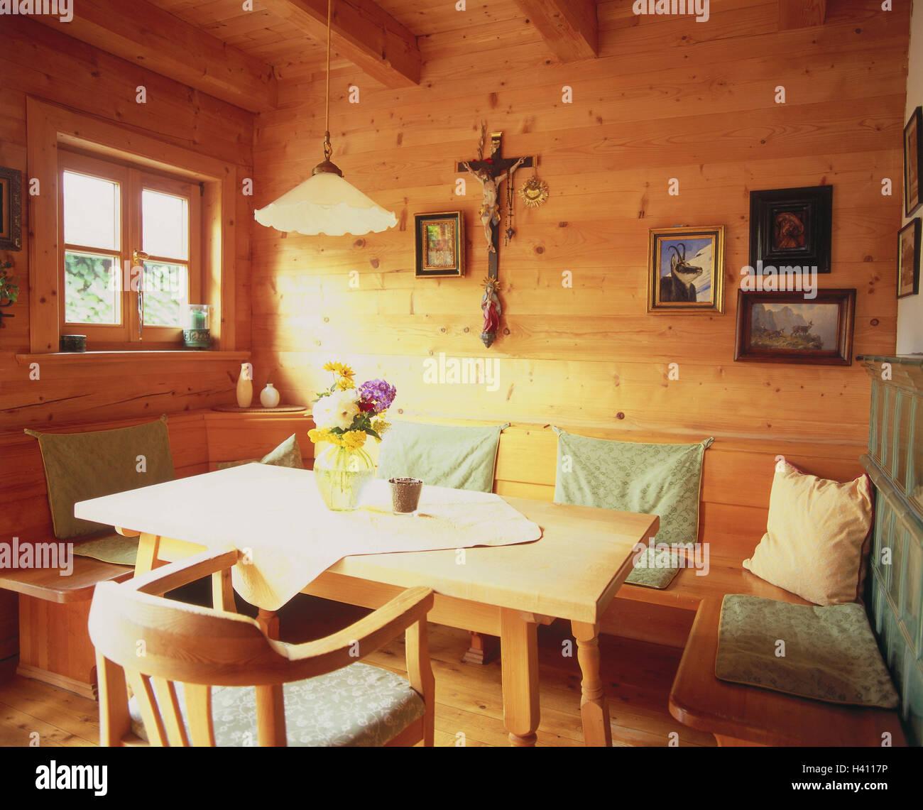 Wunderbar Detail, Zimmer, Bauernstube, Küche, Wohnraum, Wohnraum, Essecke, Eckbank,  Esstisch, Holzstück, St. Möbel, Wand, Wandbelag, Wände Aus Holz, Aus Holz,  ...