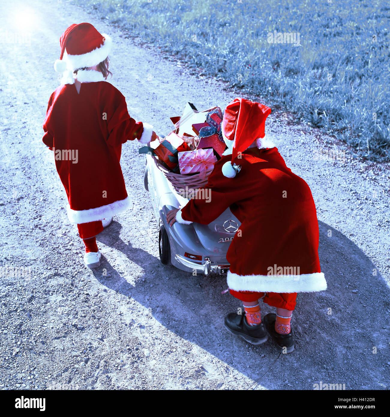 Kies Weg, Kinder, Futter, Weihnachtsmänner, Spielzeug Auto ...