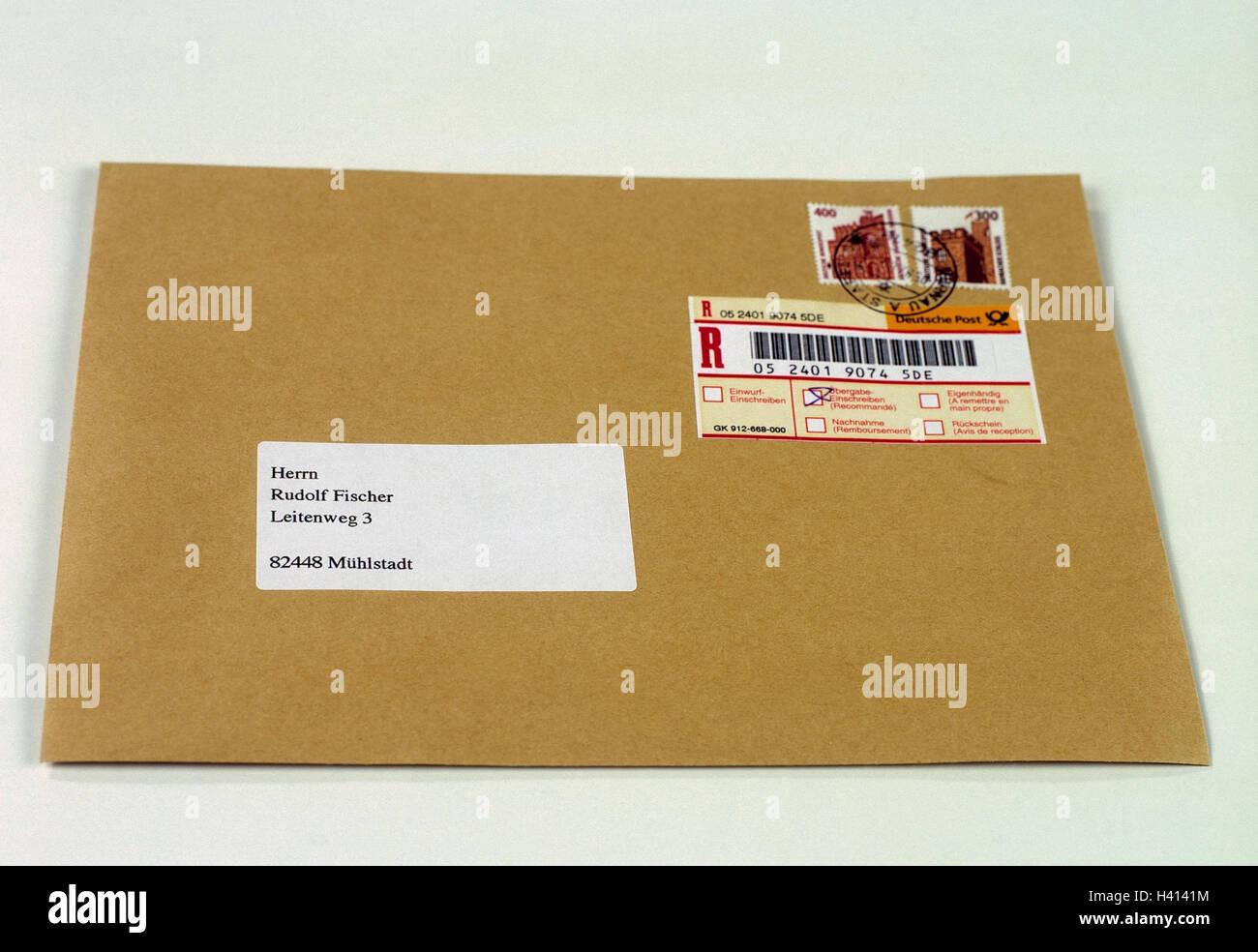 Registrierter Umschlag Stockfotos Registrierter Umschlag Bilder